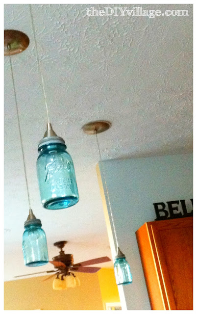 2 crafty 4 my skirt feature friday diy mason jar lighting for Hanging lights made from mason jars