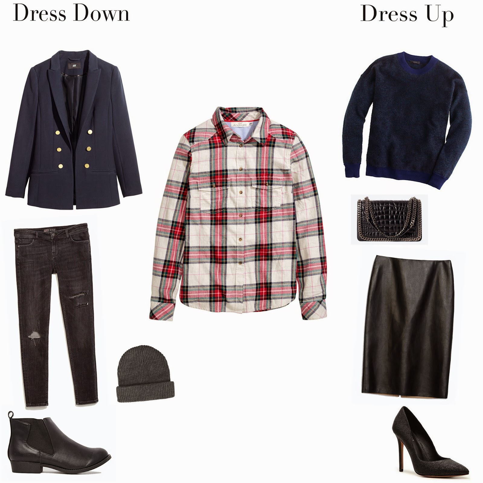 Edie's Closet, Plaid Shirt - Dress Up/Down