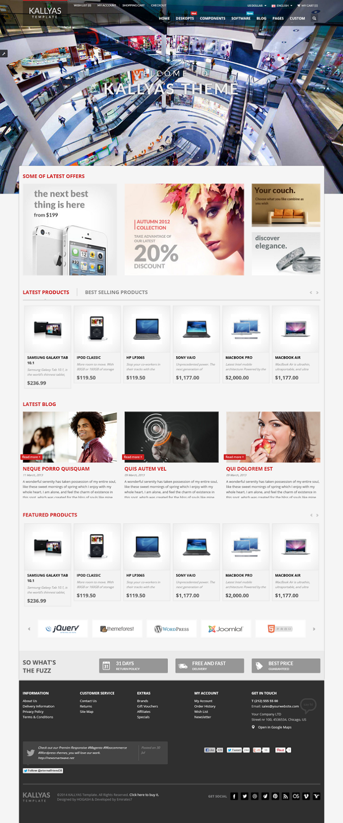 opencart website 2014
