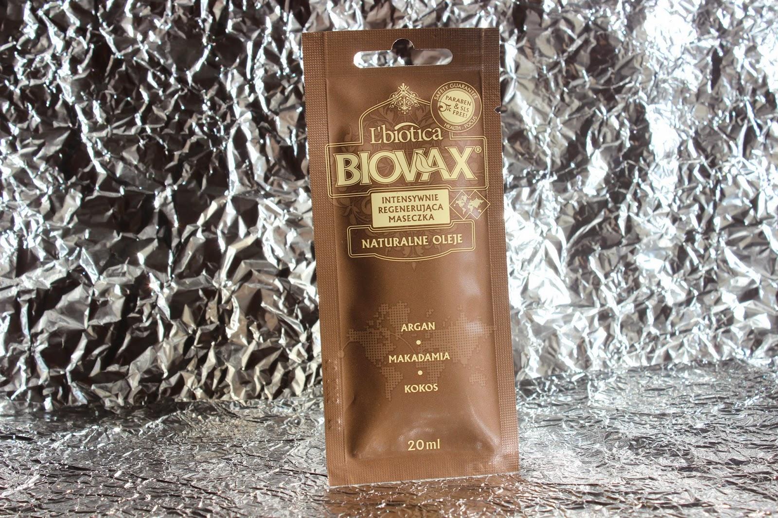 Biovax - Intensywnie regenerująca maseczka `Argan, makadamia i kokos` + aktualizacja włosowa