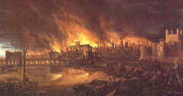 Incendio de la antigua ciudad de Roma