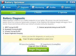 تحميل برنامج Battery Optimizer للحفاظ علي بطارية اللاب توب