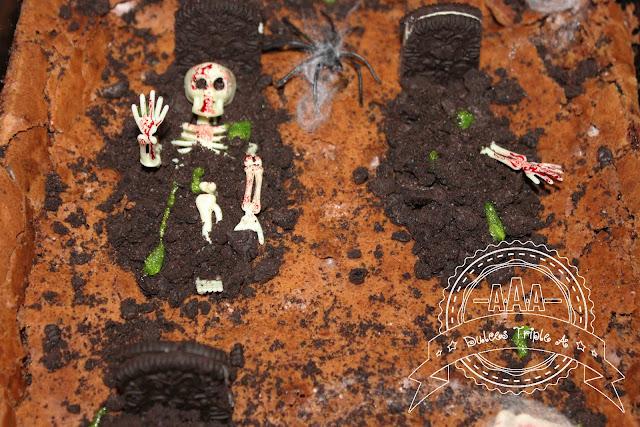 Brownie Con Galletas Oreo (tarta Cementerio Para Halloween)