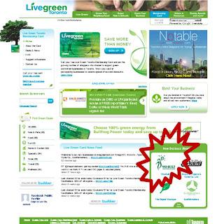 Live Green Toronto Membership Card: Wo-Built, screenshot