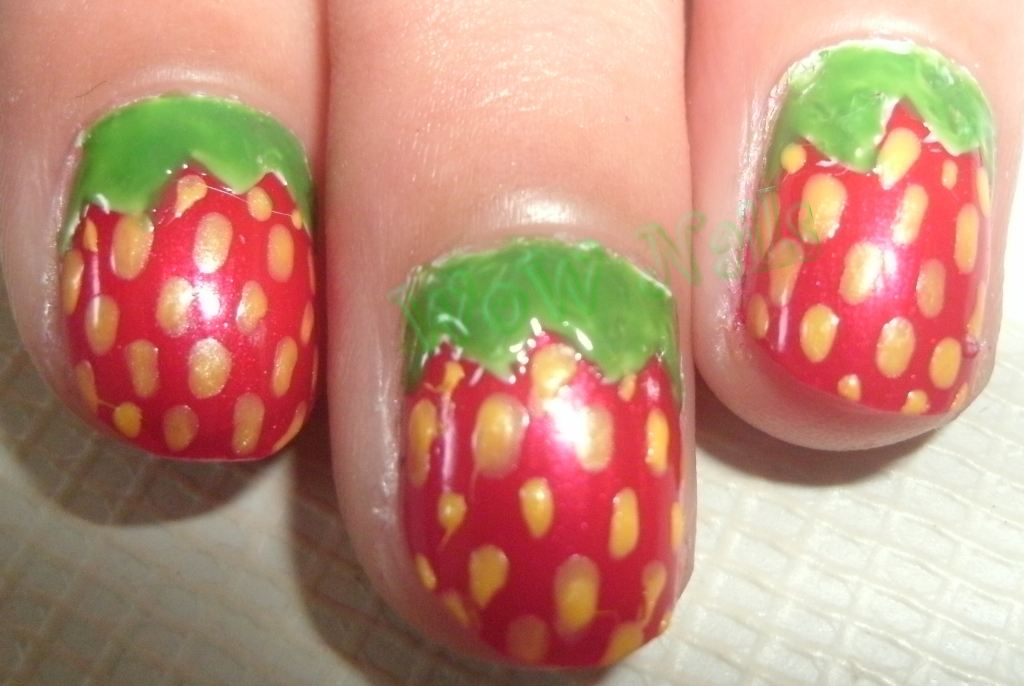 WoW Nails Strawberry Nail Art Tutorial