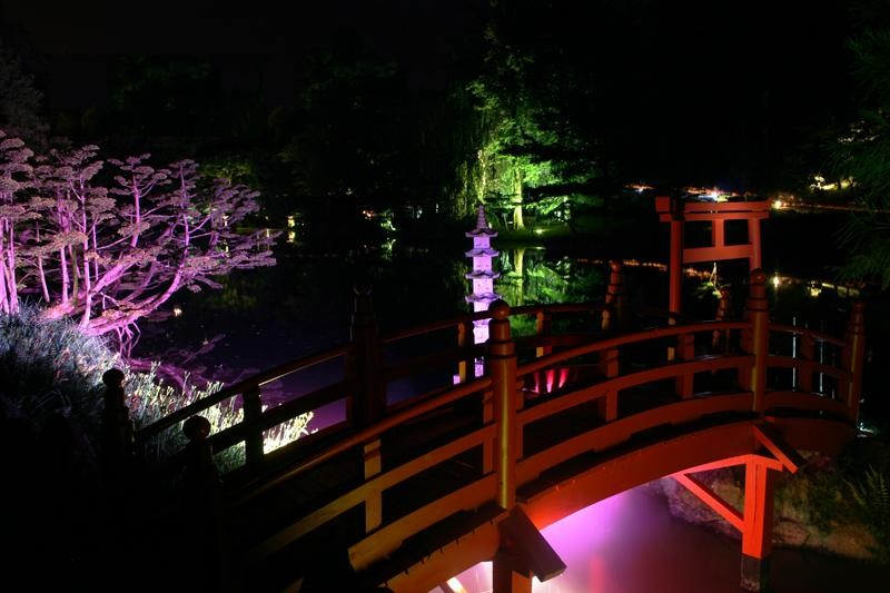 Ephémères : Parc Oriental du Maulévrier, la nuit