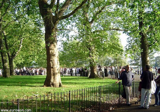 Bosque de Hyde Park en el centro de Londres