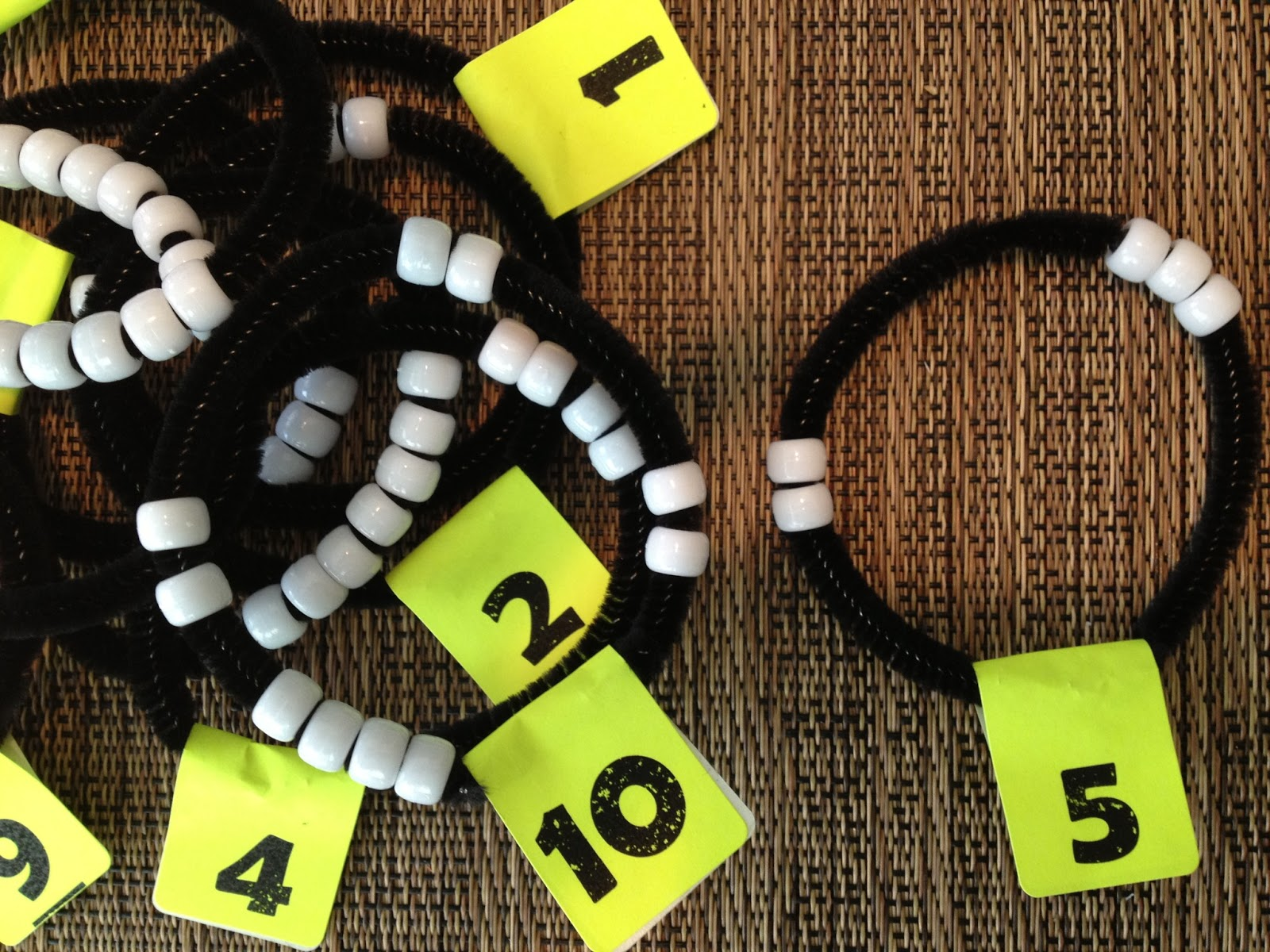 I Ve Blogged Recently About Using Dot Cards And Rekenreks To Develop Number Sense Today S Post Focuses On Another Great Tool Bracelets
