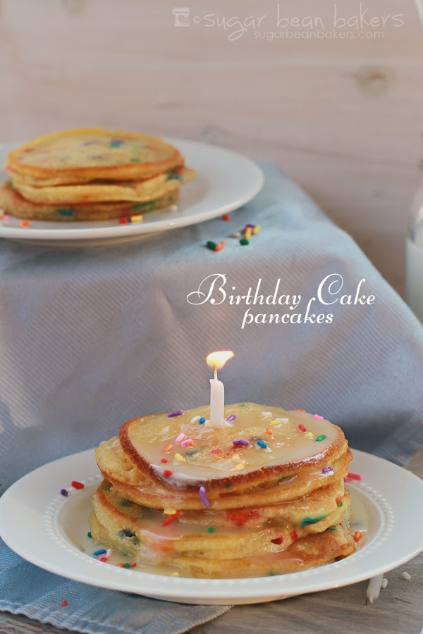 Sugar Bean Bakers Birthday Cake Pancakes