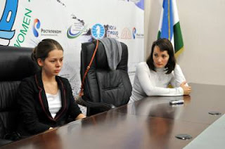 Echecs à Nalchik : Kateryna Lahno (2554) 1/2 Tatiana Kosintseva (2536) - ronde 8 © Site officiel