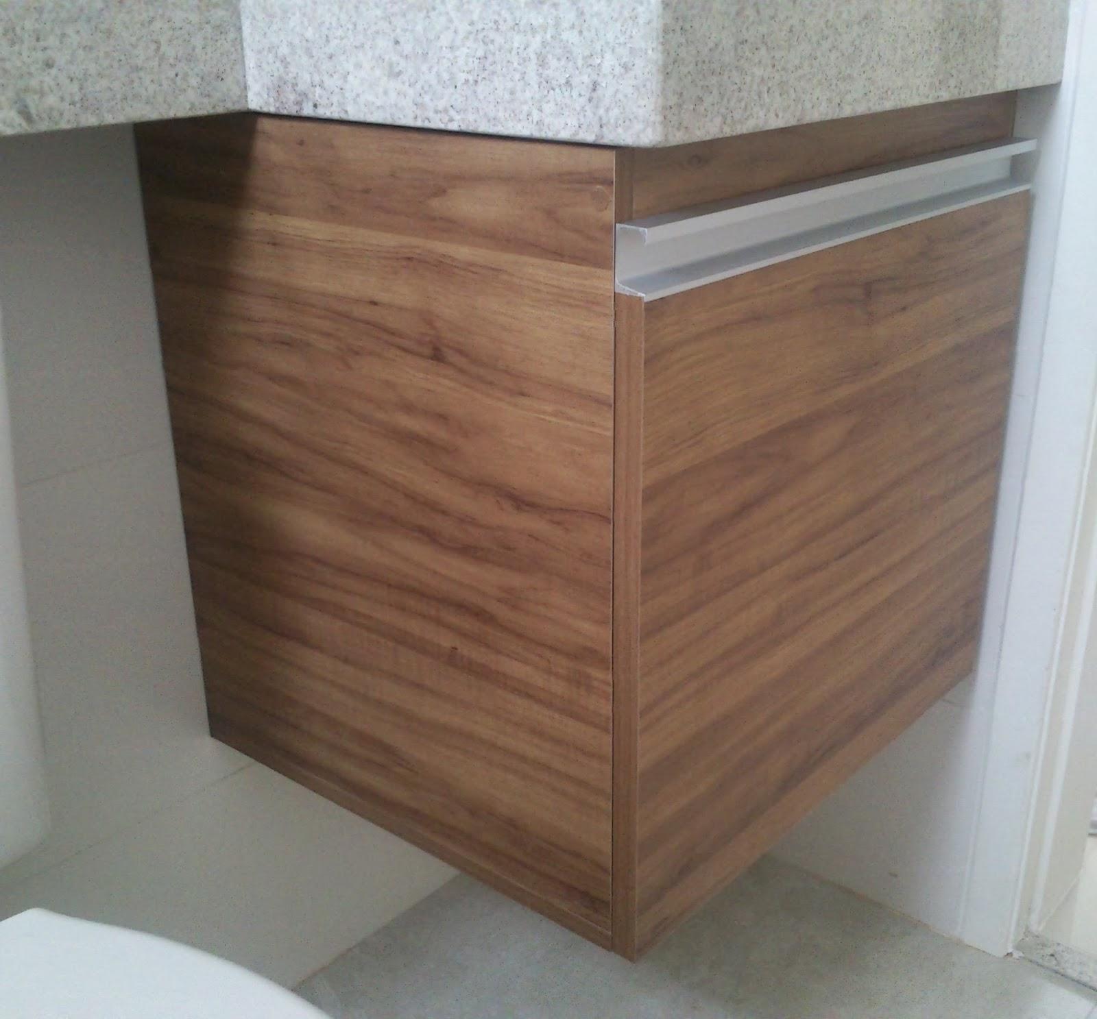 Armário para Banheiro (Padrão Amêndola Rústica) Porta em 18mm  #684B3C 1600x1487 Armario Banheiro Aluminio