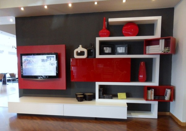 Interior Design Living Room Furniture Tv Wall Unit.