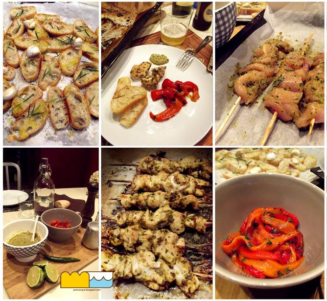 spiedini di pollo con salsa satay (buonissima)