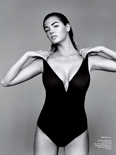 kate upton in a black swimsuit