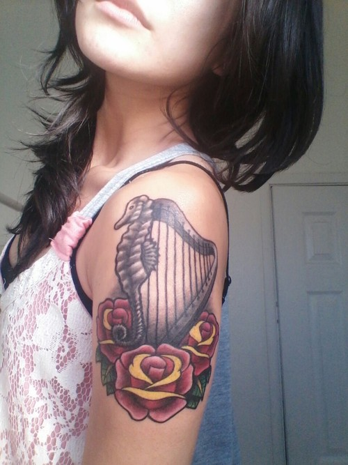 Seahorse Shoulder Tattoos