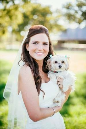 Bride and her dog, Texas Ranch Wedding, McGowan Images