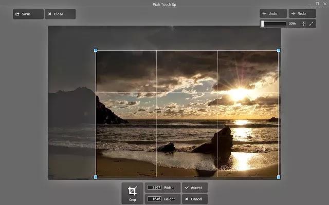 Pixlr Touch Up - Função cortar imagem