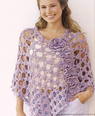 Ravelry: Lacy Shell Poncho pattern by Chelle Grissam