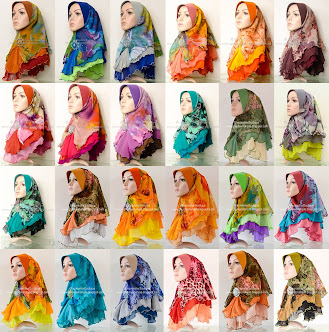 Tudung Chiffon 3 Layer (Printed) - Batch 12