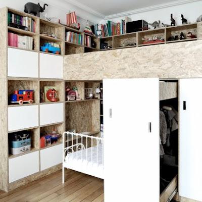 Habitación para dos niños en pequeño espacio