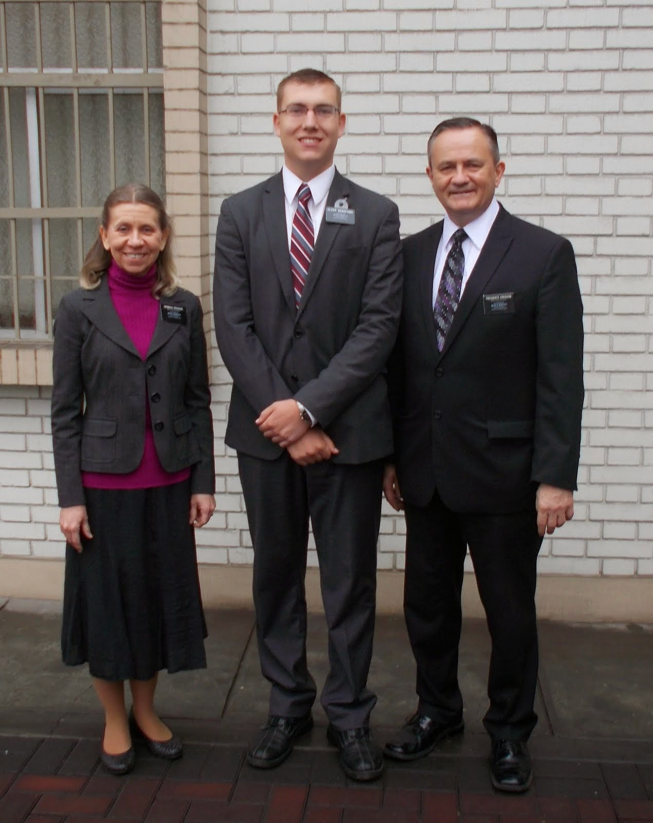Elder Bradford with President and Sister Erickson