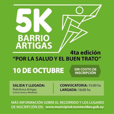 5k Por la Salud y el buen trato (Barrio Artigas - Montevideo, gratuita, 10/oct/2015)