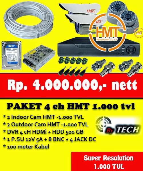 paket cctv bandung 4 ch super resolution 1000 tvl harga murah