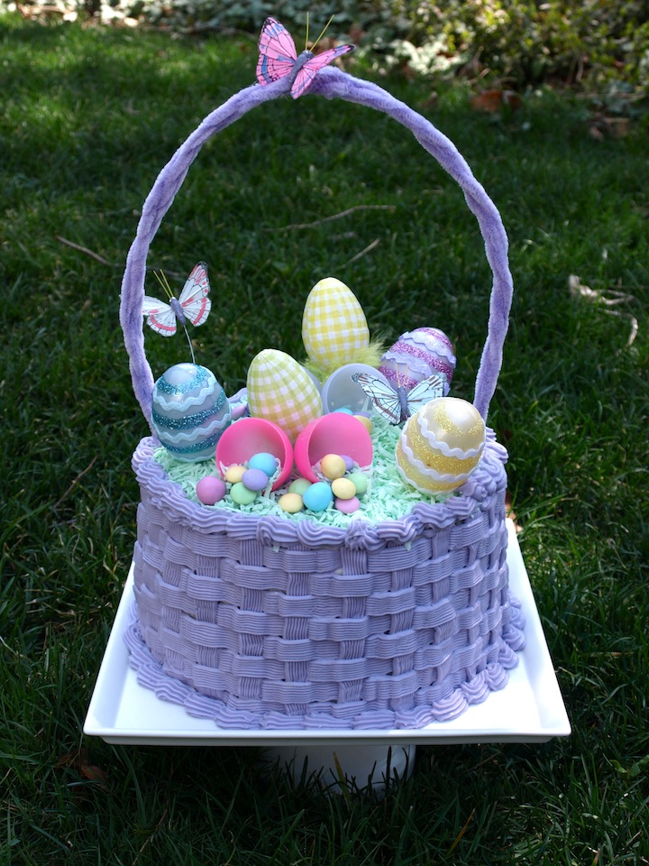 A party style easter basket cake easter basket cake negle Choice Image