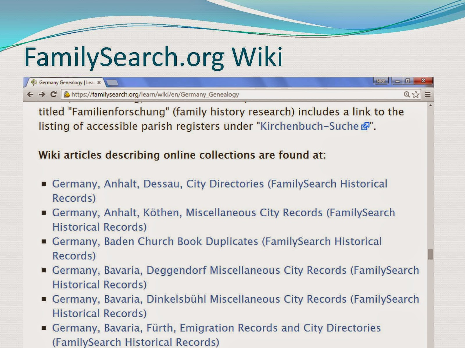 Baltimore county maryland genealogy learn familysearch org - Source German Genealogy Page On The Family Search Wiki