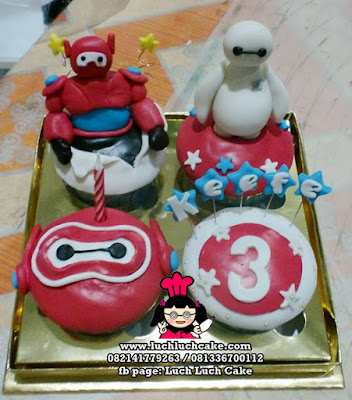 Cupcake Baymax Big Hero 5 ( REPEAT ORDER)