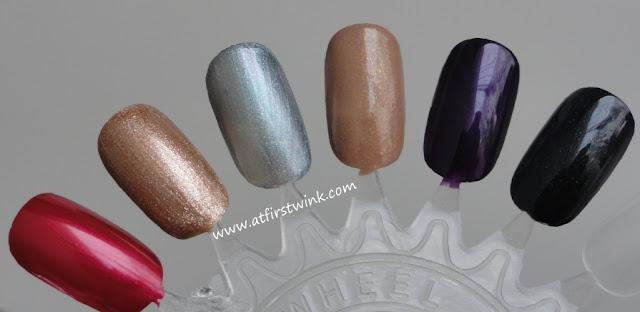 e.l.f. Essential 14-Piece Nail Cube - Jewel tones on nail wheel