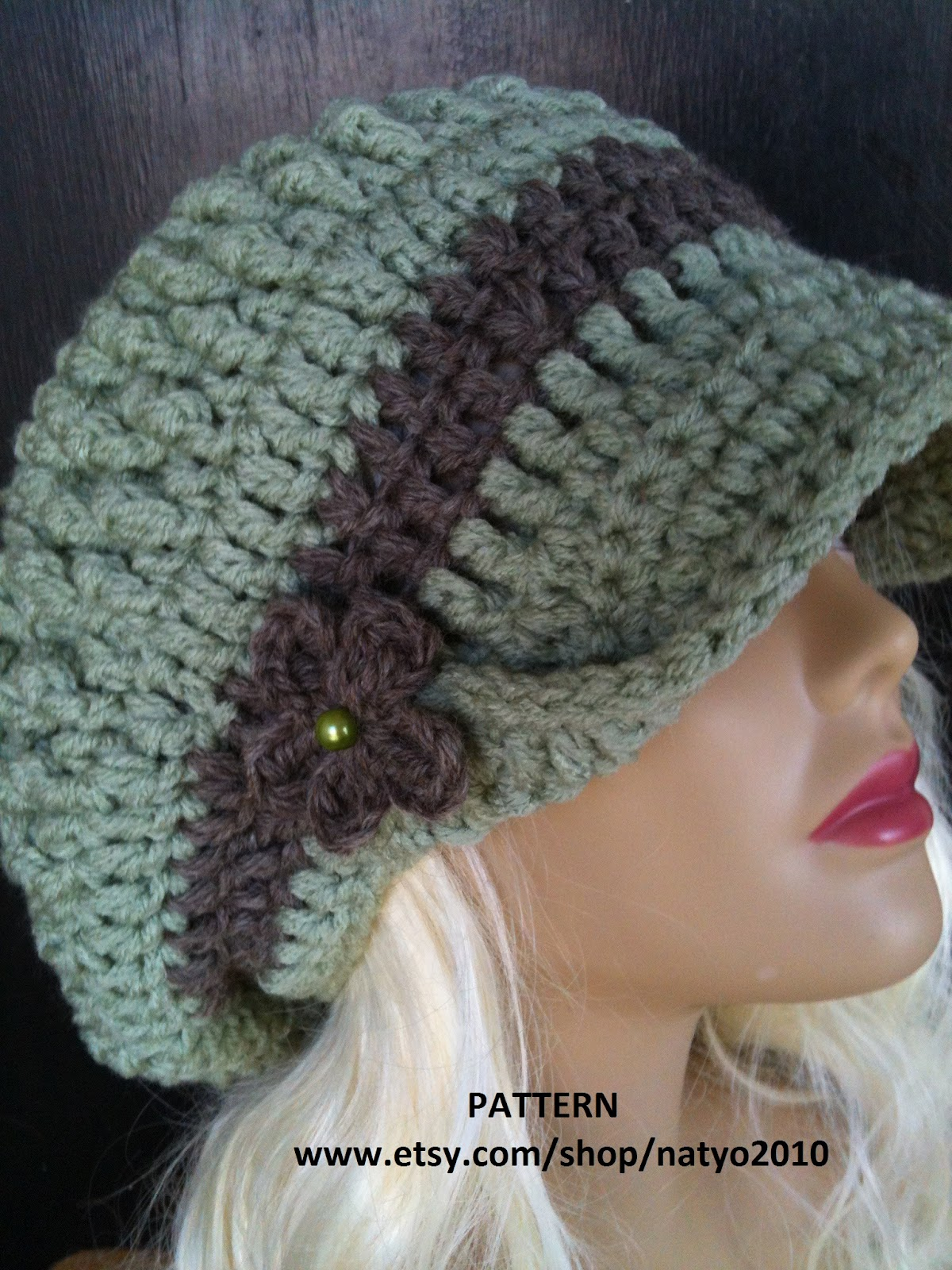 Crochet Cloche Hat Brim Pattern : Best Patterns: Cloche Hat and Loose Mint Newsboy Hat ...