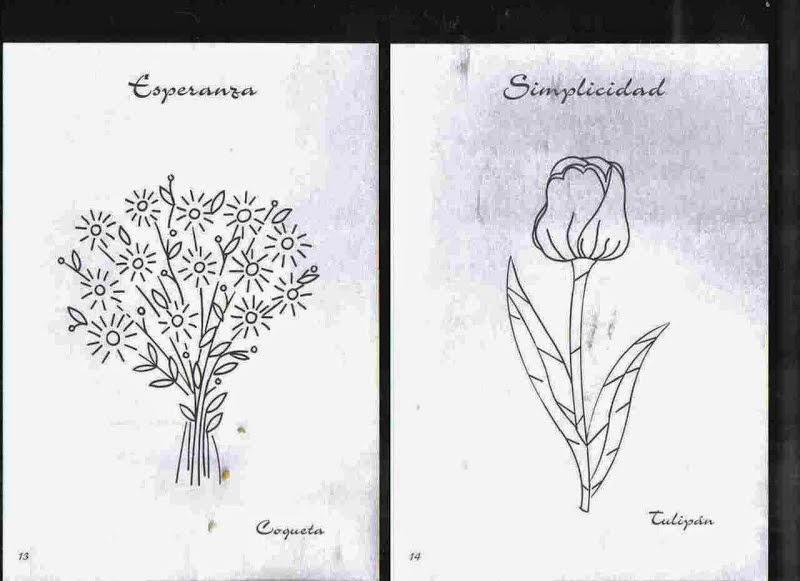 BORDADOS: Patrones de flores para bordar