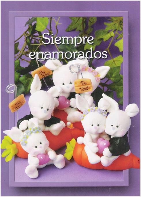 MANITAS CREATIVAS Y ALGO MAS: Porcelana fria -Conejos enamorados