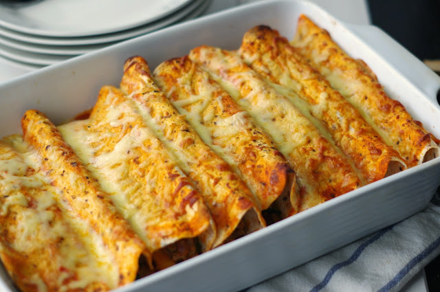Spicy Beef Enchiladas
