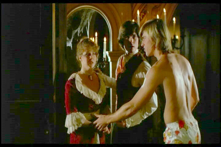 But the girls are fully clothed or hidden under the covers of the bed    Vincent Van Patten Hell Night