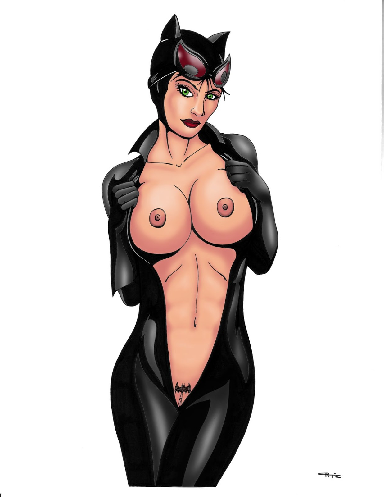 Naked catwoman hentai porno video