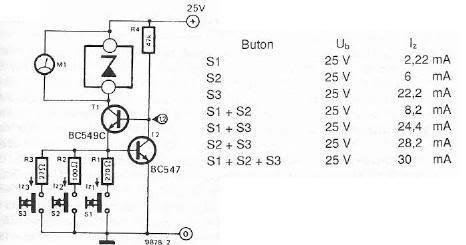 zener diode tester schematic