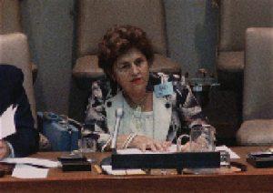 Dorina Nowil fala na ONU