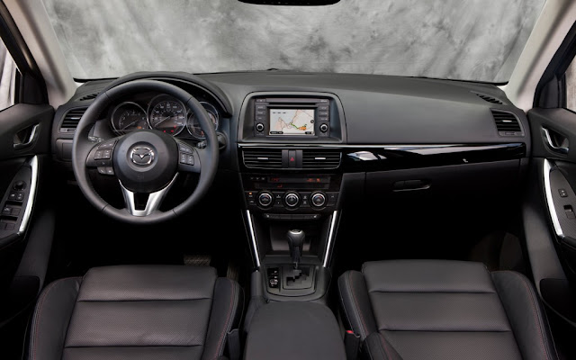 Interior view of 2014 Mazda CX-5 Skyactiv