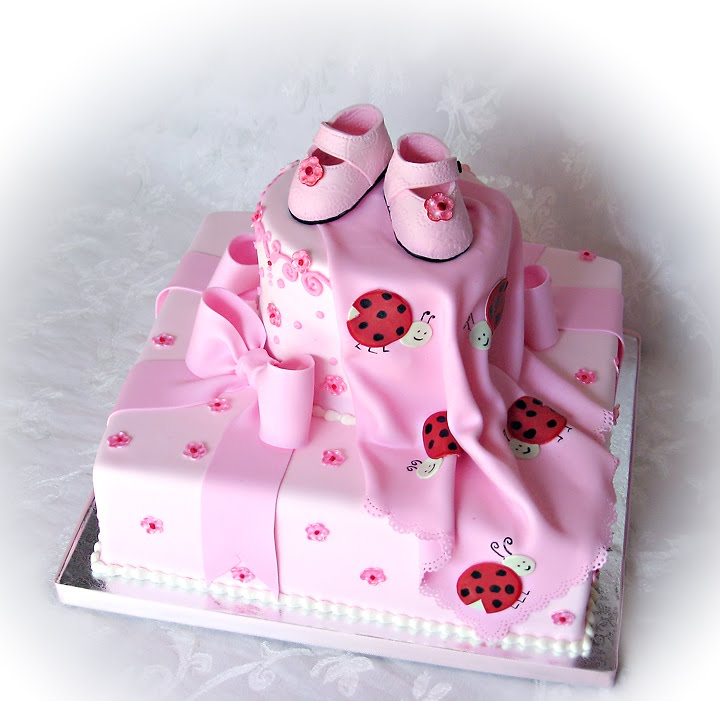shop truly custom cakery llc ladybugs and bows baby shower cake