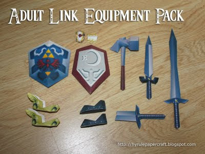 Check out Legend of Zelda's adult Link's equpment pack which include ...