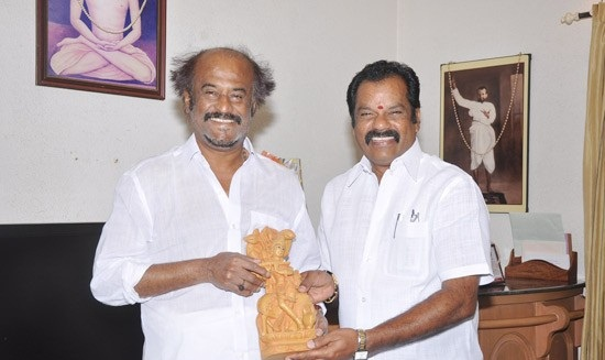 Rajinikanth Latest Photos At Kootanchoru Restaurant Private StillsPics gallery