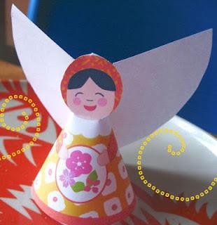 enfeite de natal anjo de papel para imprimir e montar