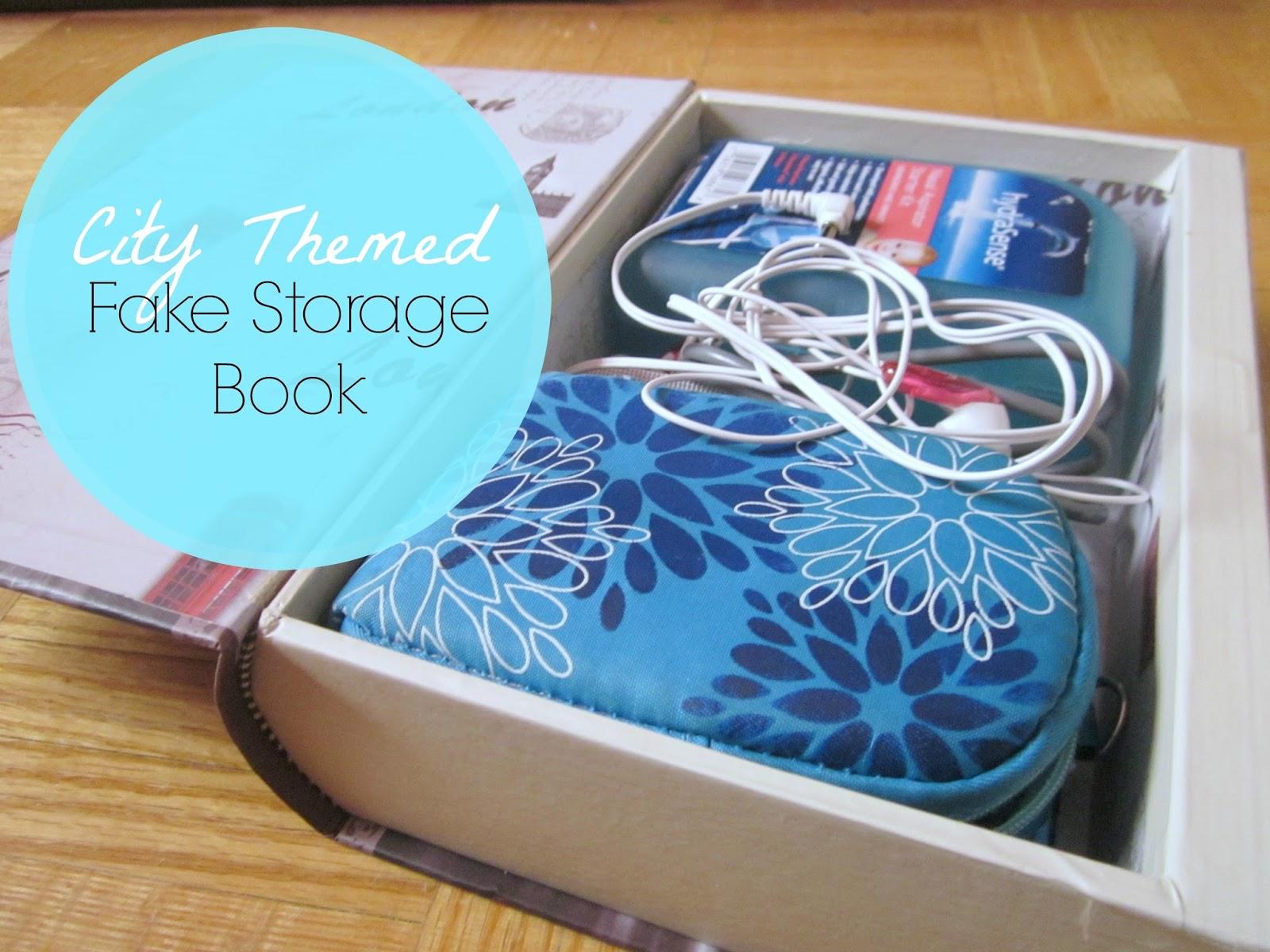 city themed fake storage book