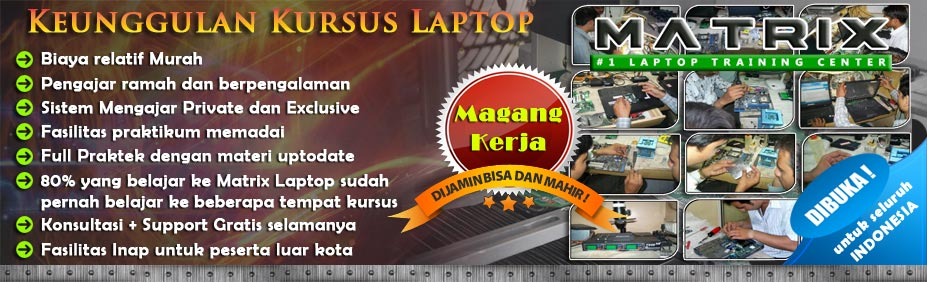 kursus teknisi notebook, kursus service notebook