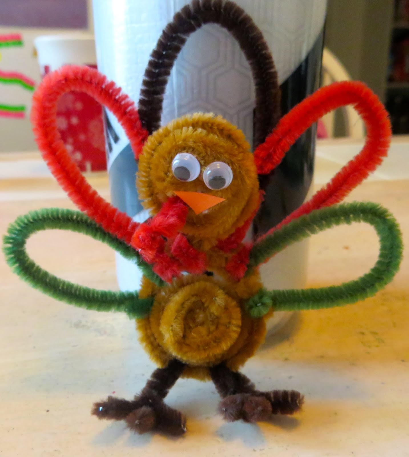 A day in the life of a renaissance wife 10 thanksgiving for Pipe cleaner turkey craft