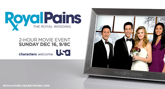 COMPLETED : Enter our Royal Pains - Royal Wedding Prize Pack Giveaway (worth $106)