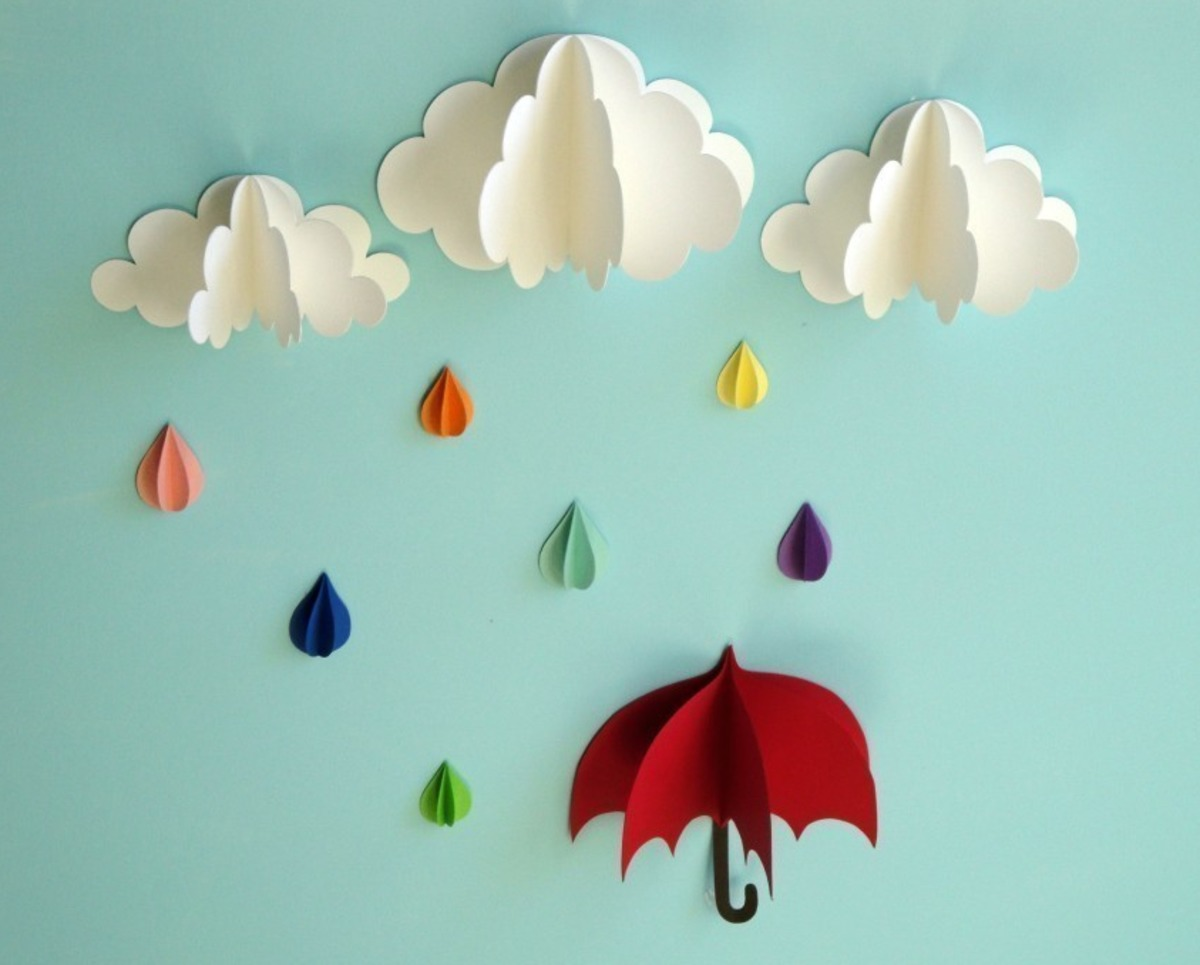 Как сделать цветной дождь своими руками
