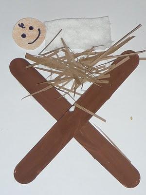 Riciclo creativo stecchi del gelato per il presepe